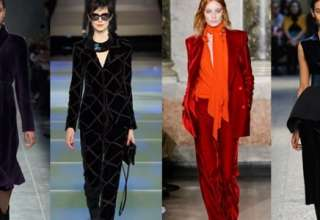 moda autunno inverno 2015 2016 velluto