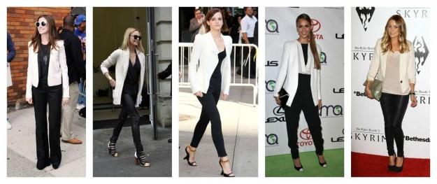 i look con il blazer bianco