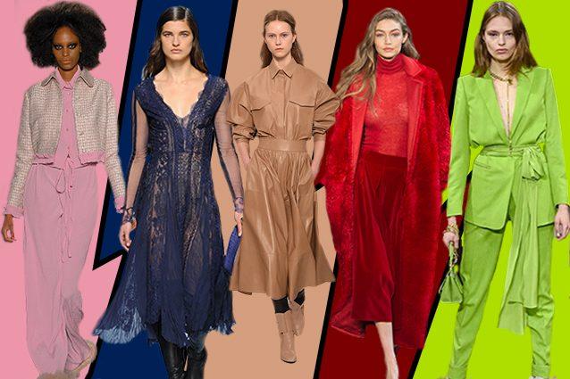 colori di moda tendenze milano fashion week autunno inverno 2017 2018