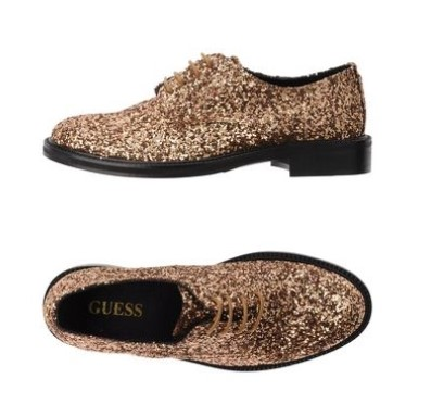 Scarpe stringate Sparkle Gold