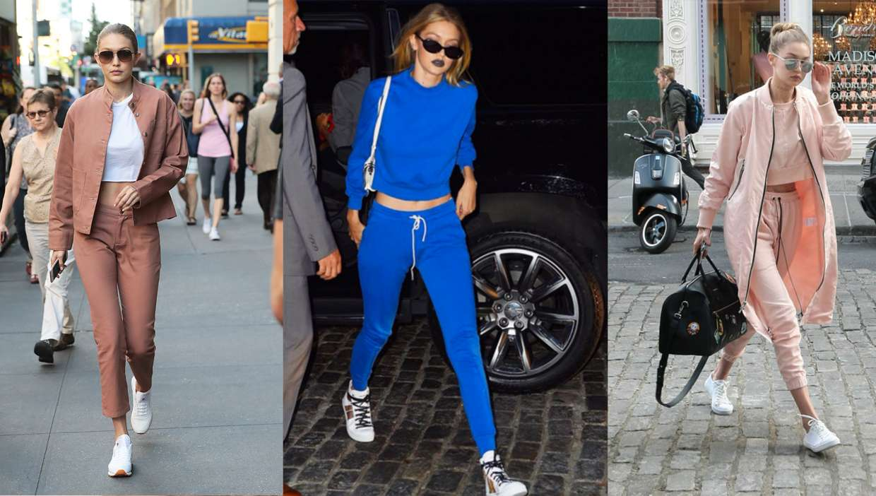 Total look di Gigi Hadid