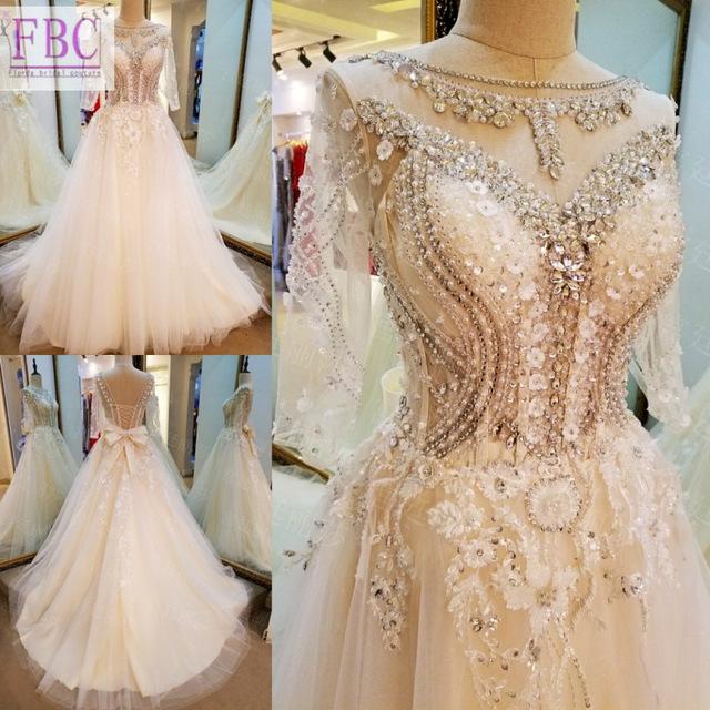 abito da sposa reale in tulle