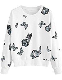 Maglia bianca con farfalline