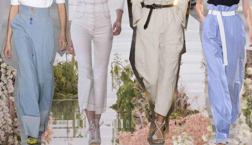 I pantaloni di tendenza per la primavera-estate 2018