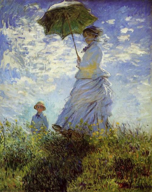 Quadro donna Monet