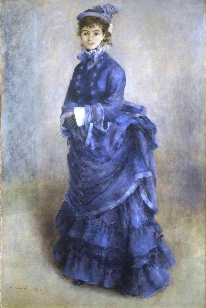 Renoir immortala in questo quadro la moda dell'Ottocento