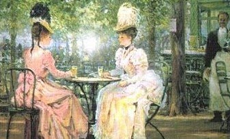 victorian ladies at tea
