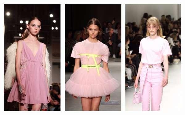colore rosa sulle passerelle