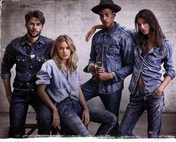 modelli e modelle in jeans