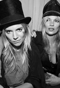 Sienna Miller e Kate Moss
