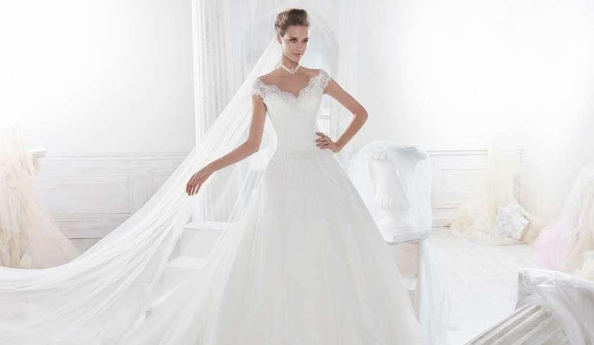 abito a trapezio nicole spose