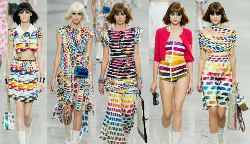 chanel rainbow paris fashion week rtw 2014