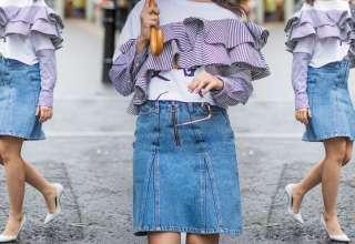 Minigonna in jeans