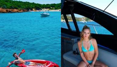 Vacanze in Sardegna per Chiara Ferragni Fedez e il piccolo Leone