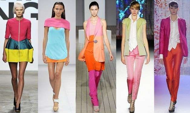 abiti colori pastello passerelle