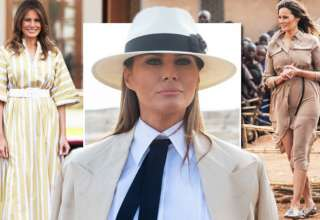Melania Trump: Outfit in Africa