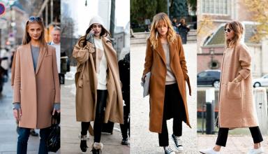 Esempi di cappotti color cammello