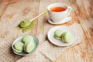 macarons verdi e té