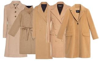 Cappotti inverno color cammello