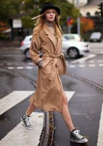 Trench inverno color cammello