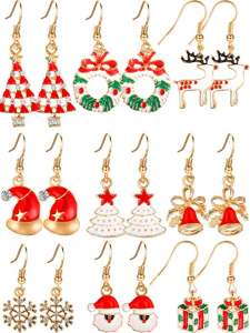 orecchini natalizi
