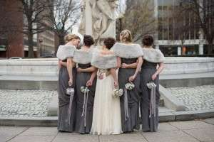 winter wedding grey bridesmaids 300x200