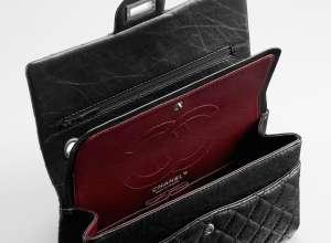 Chanel 255 Flap Bag Interior Pocket