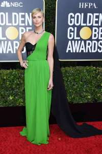 CharlizeTheron GoldenGlobes VogueGlobal 5Jan20 GettyImages