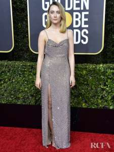 Saoirse Ronan In Celine 2020 Golden Globe Awards
