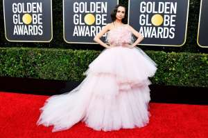 SofiaCarson GoldenGlobes VogueGlobal 5Jan20 GettyImages