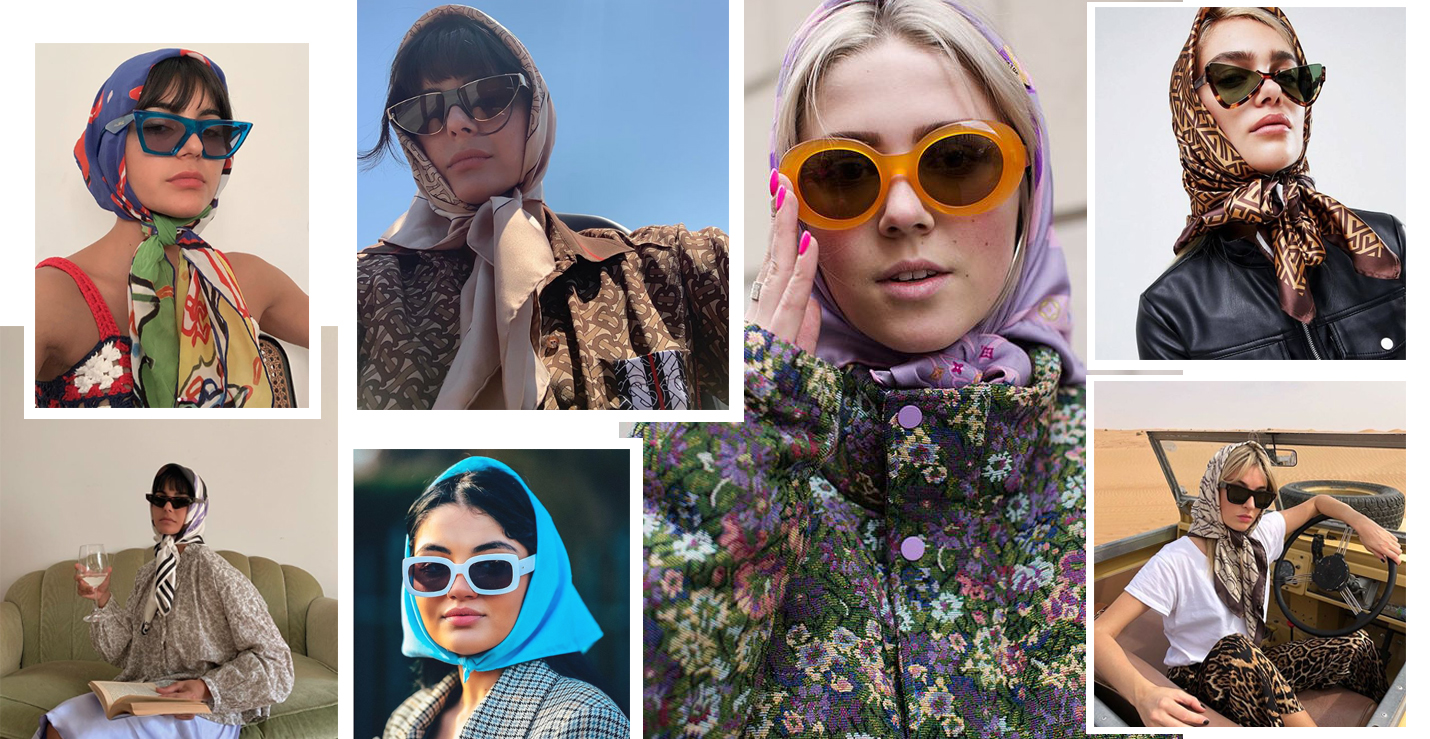 trends 2020 accessorio foulard headscarf streetstyle fashion babushka