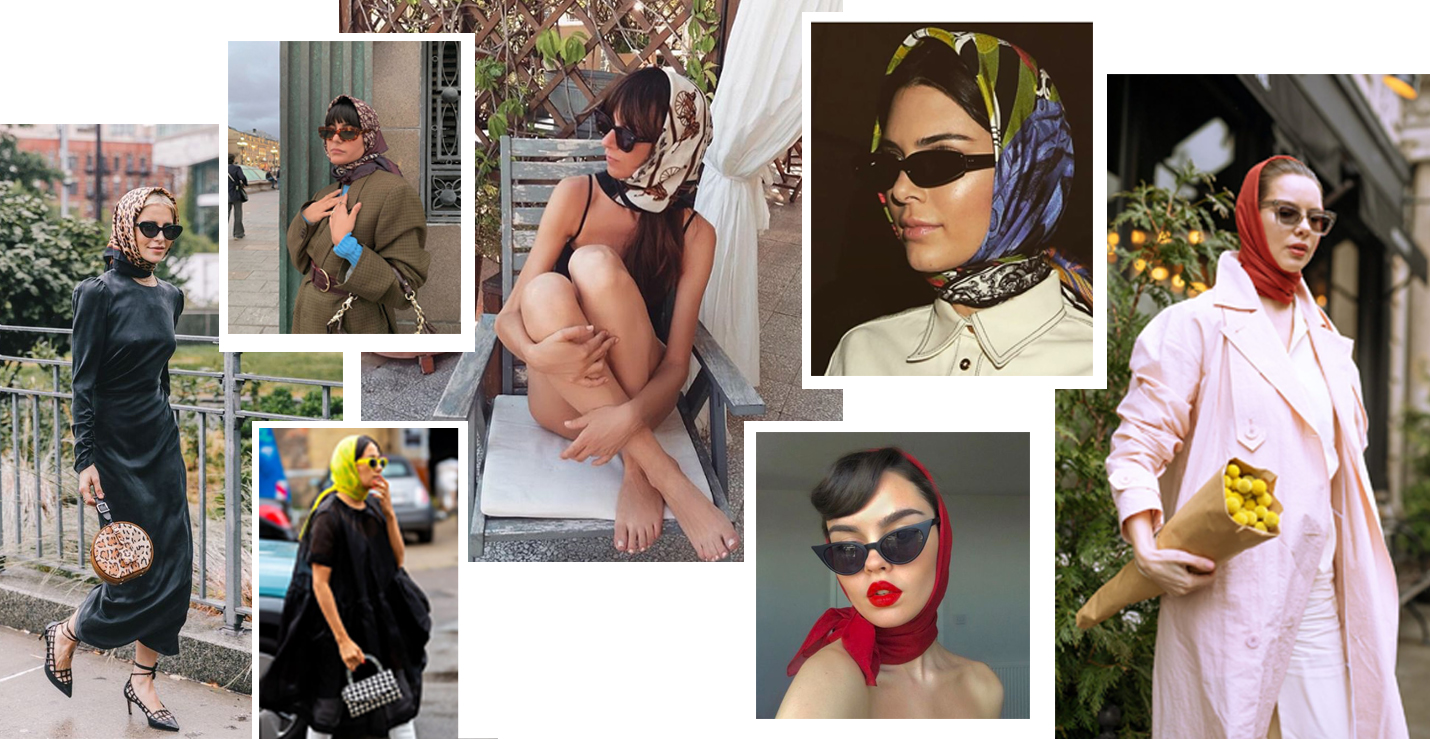 trends 2020 accessorio foulard headscarf streetstyle fashion diva
